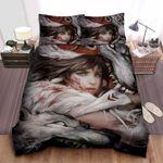 Princess Mononoke & The Angry Divine Wolves Illustration Bed Sheets Spread Comforter Duvet Cover Bedding Sets