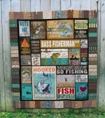 Fishing I Make Fish Come Bass Fisherman Quilt Blanket Great Customized Blanket For Birthday Christmas Thanksgiving Anniversary