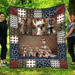 Cute Miniature Schnauzer Dogs Quilt Blanket Great Customized Blanket For Birthday Christmas Thanksgiving Anniversary