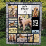 Golden Retriever Start Each Day With A Dog Kiss And A Smile Quilt Blanket Great Customized Blanket Gifts For Birthday Christmas Thanksgiving