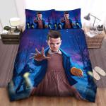 Stranger Things Eleven Digital Illustration Bed Sheets Spread Comforter Duvet Cover Bedding Sets