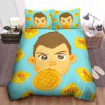 Stranger Things Eleven & Her Favorite Eggo Waffles In Cartoon Bed Sheets Spread Comforter Duvet Cover Bedding Sets