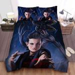 Stranger Things Eleven & Demogorgons Illustration Bed Sheets Spread Comforter Duvet Cover Bedding Sets