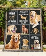 Golden Retriever Dog My Daddy Said I'M A Baby Great Customized Blanket For Birthday Christmas Thanksgiving Anniversary