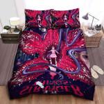 Eleven & Demogorgon In Stranger Things Animated Poster Bed Sheets Spread Comforter Duvet Cover Bedding Sets