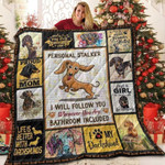 Dachshund Dog Proud Dachshund Mom I Will Follow You Quilt Blanket Great Customized Blanket For Birthday Christmas Thanksgiving Anniversary