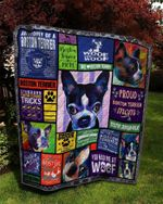 Boston Terrier Drama Queen Proud Boston Terrier Mom Quilt Blanket Great Customized Blanket Gifts For Birthday Christmas Thanksgiving