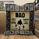 Deer Hunting Papa My Legend Quilt Blanket Great Customized Blanket Gifts For Birthday Christmas Thanksgiving