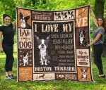 Boston Terrier Dog I Love My Boston Terrier Great Customized Gifts For Birthday Christmas Thanksgiving Anniversary