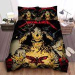 Metallica Moth Into Flame Bed Sheets Spread Comforter Duvet Cover Bedding Sets