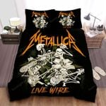 Metallica Live Wire Bed Sheets Spread Comforter Duvet Cover Bedding Sets