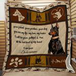Doberman Dog I Am Your Doberman Quilt Blanket Great Customized Gifts For Birthday Christmas Thanksgiving Anniversary