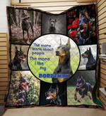 Doberman Dog The More I Like My Doberman Quilt Blanket Great Customized Gifts For Birthday Christmas Thanksgiving Anniversary