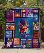 Corgi My Boss Life Is Better With A Cardigan Colorful Quilt Blanket Great Customized Gifts For Birthday Christmas Thanksgiving