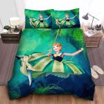Frozen Anna Playing On Swing Bed Sheets Spread Comforter Duvet Cover Bedding Sets