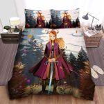 Frozen Anna & Her Frozen Sword Illustration Bed Sheets Spread Comforter Duvet Cover Bedding Sets