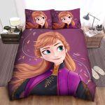 Frozen Anna Digital Portrait Artwork Bed Sheets Spread Comforter Duvet Cover Bedding Sets