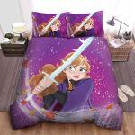 Frozen Anna Holding Frozen Sword Drawing Art Bed Sheets Spread Comforter Duvet Cover Bedding Sets
