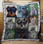 Miniature Schnauzer Quilt Blanket Great Customized Blanket Gifts For Birthday Christmas Thanksgiving