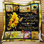 Butterfly And Sunflower They Walk Beside Us Everyday Quilt Blanket Great Customized Blanket Gifts For Birthday Christmas Thanksgiving Anniversary