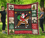 Boxer Boxer And Santa Holly Jolly Jesus Love You Quilt Blanket Great Customized Gifts For Birthday Christmas Thanksgiving