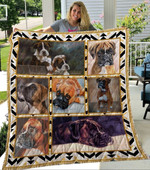 Boxer Dogs Nice Dogs Quilt Blanket Great Customized Blanket Gifts For Birthday Christmas Thanksgiving Anniversary