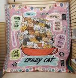 Crazy Cat All I Need Is A Cat Mini Cats Cup Of Cats Quilt Blanket Great Customized Blanket Gifts For Birthday Christmas Thanksgiving
