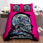 Inside The Terminator Head Digital Art Bed Sheets Spread Comforter Duvet Cover Bedding Sets