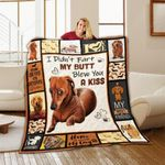 Dachshund Good Boy My Butt Blew You A Kiss Quilt Blanket Great Customized Blanket Gifts For Birthday Christmas Thanksgiving