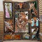 Giraffe Quilt Blanket Great Customized Blanket Gifts For Birthday Christmas Thanksgiving Anniversary