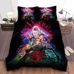 Stranger Things 3 Series Poster Bed Sheets Spread Comforter Duvet Cover Bedding Sets