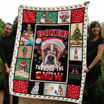 Boxer Boxer Through The Snow Merry Christmas Quilt Blanket Great Customized Blanket Gifts For Birthday Christmas Thanksgiving