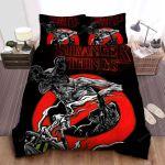 Stranger Things Demogorgon Is Banned Here Bed Sheets Spread Comforter Duvet Cover Bedding Sets