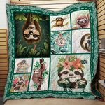 Sloth Quilt Blanket Great Customized Gifts For Birthday Christmas Thanksgiving Perfect Gifts For Sloth Lover
