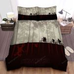 Stranger Things The Party Silhouettes Reflection Upside Down World Art Bed Sheets Spread Comforter Duvet Cover Bedding Sets