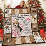 Beagle Almost Is Never Enough Dogs Every Single Morning Quilt Blanket Great Customized Blanket Gifts For Birthday Christmas Thanksgiving