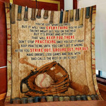 Baseball Don't Stop Practicing Once You Get It Right Quilt Blanket Great Customized Blanket Gifts For Birthday Christmas Thanksgiving