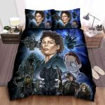 Aliens Characters Illustration Bed Sheets Spread Comforter Duvet Cover Bedding Sets