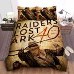 Raiders Of The Lost Ark 40th Anniversary Bed Sheets Spread Comforter Duvet Cover Bedding Sets