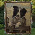 Border Collie Gander Dogs Drawing Quilt Blanket Great Customized Blanket Gifts For Birthday Christmas Thanksgiving