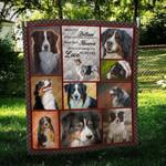 Australian Shepherd Dog Emotion Love Never Dies Quilt Blanket Great Customized Blanket Gifts For Birthday Christmas Thanksgiving