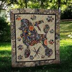 Poodle Dog Colorful Flower Pattern Dog Quilt Blanket Great Customized Blanket Gifts For Birthday Christmas Thanksgiving