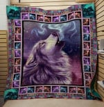 Wolf A Wish Wolf Hides His Fangs Quilt Blanket Great Customized Blanket Gifts For Birthday Christmas Thanksgiving