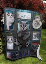Cat Pocket Beautiful Cats Quilt Blanket Great Customized Blanket Gifts For Birthday Christmas Thanksgiving
