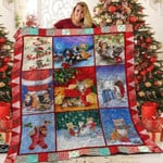 Cats Love Christmas Quilt Blanket Great Customized Blanket Gifts For Birthday Christmas Thanksgiving