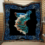 Betta Fish Colorful Motif Black Background Quilt Blanket Great Customized Blanket Gifts For Birthday Christmas Thanksgiving