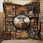 Deer Hunting One Shot One Kill Quilt Blanket Great Customized Blanket Gifts For Birthday Christmas Thanksgiving