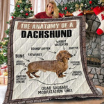 Dachshund Dog The Anatomy Of A Dachshund Quilt Blanket Great Customized Blanket Gifts For Birthday Christmas Thanksgiving Perfect Gifts For Dachshund Lovers