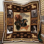 Dachshund Everything Is A Dog Quilt Blanket Great Customized Blanket Gifts For Birthday Christmas Thanksgiving