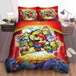Super Mario Paper Board Game Illustration Bed Sheets Spread Comforter Duvet Cover Bedding Sets